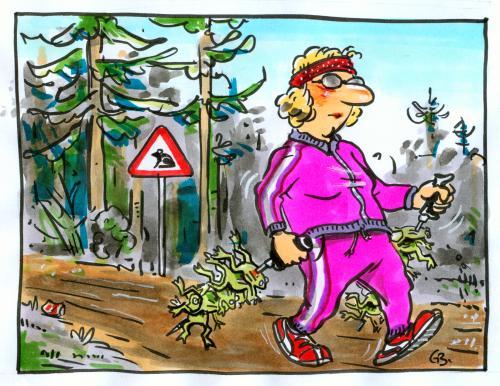 Natur training bewegung frühsport gesundheit walking nordic sport