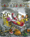 Cartoon: Grave-chamber found! (small) by GB tagged santa,claus,weihnachtsmann,christkind,christmas,grabmal,beigaben,geschenke,entdeckung,ruhestätte,mumie,einbalsamierung