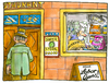 Cartoon: Hygiene-Ampel (small) by GB tagged hygiene,sauberkeit,steril,rein,sauber,restaurant,ampel,koch,küche,essen,menue,nahrung,lebensmittel,verarbeitung,hersteller,erzeuger,verbraucher