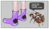 Cartoon: Loch an Loch (small) by Retlaw tagged sommerloch schwarzes loch von den socken