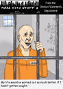 Cartoon: Prisioner regrets (small) by optimystical tagged crime,punishment,regrets,delusions,imprisonment,criminal,jail