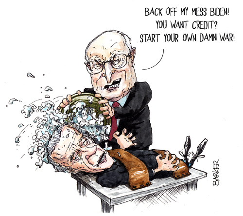 Cartoon cheney dick shooting
