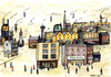 Cartoon: The Lowry E-High Street (small) by barker tagged ls,lowry,high,street,pastiche,online,shopping,illustration