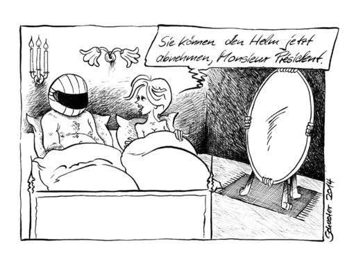Im Bett Mit Francois Hollande By Mario Schuster Politics Cartoon