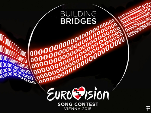 Cartoon: ESC-Logo 2015 (medium) by thalasso tagged tv,eurovision,schlager,punkte,null,esc,lieder,song,abstimmung,schlagerwettbewerb,grand,prix