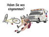 Cartoon: AMBULANCEARMSTRONG (small) by thalasso tagged sport,cycling,bicycle,lance,armstrong,tour,de,france,doping,radsport,betrug,medikamente,drugs,drogen,leistungssteigerung