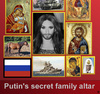 Cartoon: Putins secret family altar (small) by thalasso tagged russia,putin,conchita,wurst,esc,believe,peace,freedom,gay