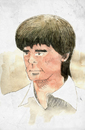 Cartoon: Joachim Löw (small) by Thomas Berthelon tagged berthelon,thomas,worldcup,world,cup,2010,mondial,football,low