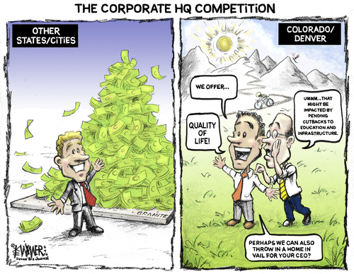 Cartoon: Corporate HQ Competition (medium) by karlwimer tagged ...
