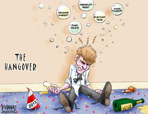 new years hangover by karlwimer business cartoon toonpool