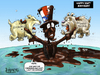 Cartoon: 4th of July 2010 (small) by karlwimer tagged usa,us,economy,afghanistan,oilspill,oil,bp,sam,dogs,birthday,independence,business