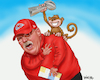 Cartoon: Andy Reid Super Bowl Monkey (small) by karlwimer tagged wimer,andy,reid,super,bowl,nfl,american,football,kansas,city,chiefs,monkey,coach