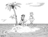 Cartoon: Create a Caption Wishlist (small) by karlwimer tagged christmas,wishlist,desert,island,castaways,holidays