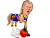 Cartoon: Dan Issel Horse (small) by karlwimer tagged nba,basketball,denver,nuggets,dan,issel,old,school,horse,sports