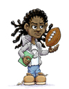 Cartoon: MJ (small) by karlwimer tagged cartoon,sports,books,kids,football