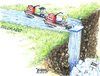 Cartoon: Waterfall 2010 (small) by karlwimer tagged economy,business,construction,education,waterfall,boats,stimulus