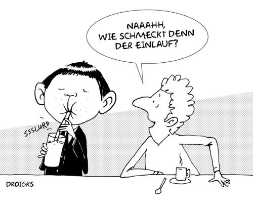 Einlauf By droigks | Media & Culture Cartoon | TOONPOOL