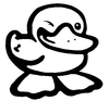 Cartoon: Ente (small) by droigks tagged ente,erpel,duck,blinzeln,anmachen,flirten,droigk,droigks