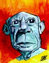 Cartoon: Pablo Picasso (small) by wwoeart tagged pablo picasso