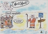 Cartoon: Moses teilt das Rote Meer (small) by Tom13thecat tagged religion,satirisch