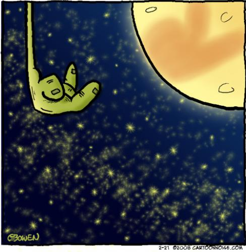 Cartoon: Bunny clipse of the moon (medium) by GBowen tagged eclipse,moon,happy,humor,cartoon,lunar