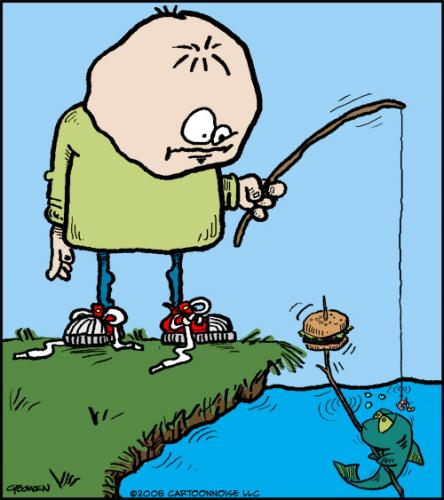 cartoon fish. Cartoon: Fishing.
