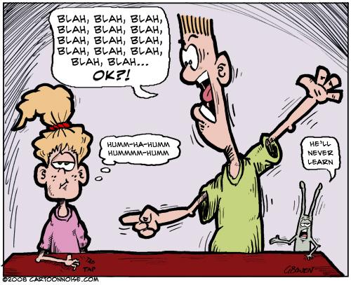 Cartoon: Selective Hearing 1 (medium) by GBowen tagged cartoon,cartoons,character,comic,dad,dads,daughter,funny,gbowen,illustration,kids,school,spring