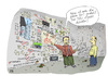 Cartoon: Der Theoretiker (small) by darkplanet tagged verschwörung,theorie,11,jfk,barschel,nsa,nsu,denker