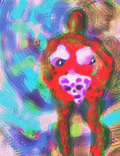 Cartoon clownin medium by tzod earf tagged digital paint symbolic
