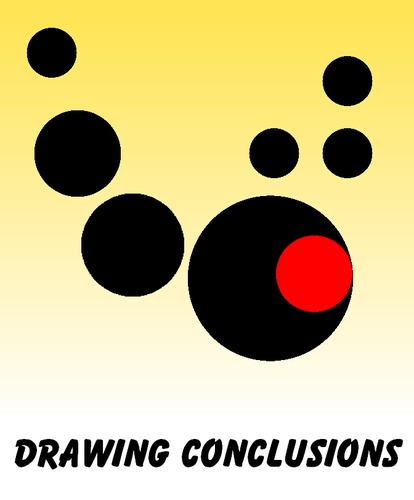 Cartoon: Drawing Conclusions (medium) by Tzod Earf tagged period,conclusion,minimalism,red,black,yellow,white,visual,metaphor,justin,bieber