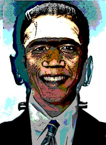 Cartoon: The Obamanation of Desperation (medium) by Tzod Earf tagged barrack,obama,frankenstein