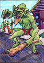 Cartoon: Flash from Mergatroid (small) by Tzod Earf tagged troll orc monster art trading card