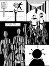 Cartoon: Prison Bars of Conformity (small) by Tzod Earf tagged bar,codes,conformity,black,and,white,solon,cult,barristas,parking,meter