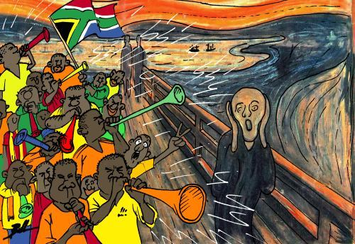Cartoon: Scream (medium) by Ballner tagged world,cup