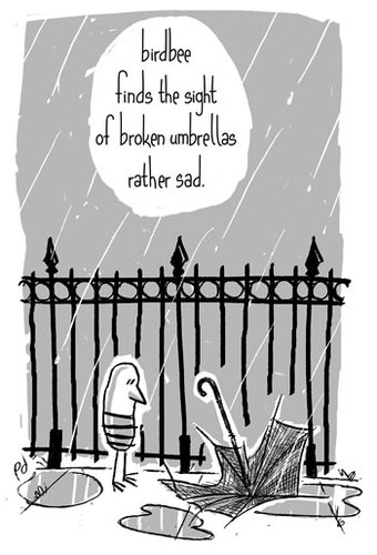 Umbrella by birdbee philosophy cartoon toonpool