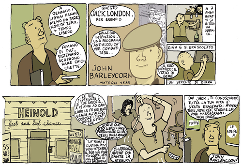 Cartoon: jack london review (medium) by marco petrella tagged writers