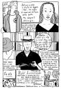 Cartoon: rick moody reading in roma (small) by marco petrella tagged rickmoody,zadiesmith,vespa,books,marcopetrella