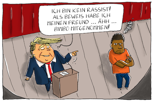 Cartoon: trump rassist (medium) by leopold maurer tagged trump,usa,präsident,rassismus,schwarz,weiss,trump,usa,präsident,rassismus,schwarz,weiss