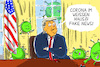 Cartoon: corona im weißen haus (small) by leopold maurer tagged corona,trump,usa