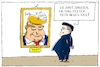 Cartoon: kim jong trump (small) by leopold maurer tagged kim,jong,un,trump,usa,folter,mauer,präsident,nordkorea