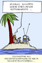 Cartoon: teleshopping (small) by leopold maurer tagged teleshopping,shopping,tv,insel,schiffbruch,rettungsboot