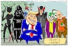 Cartoon: trumps cabinet (small) by leopold maurer tagged trump,donald,usa,präsident,kabinett,bösewichte,regierung,schurken
