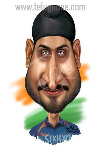 Cartoon: Harbhajan Singh (medium) by jagdishbhawsar tagged cricket,singh, ...