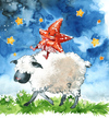Cartoon: stars and sheeps (small) by ink-pop tagged sheep