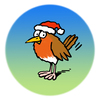 Cartoon: Robin (small) by Ellis Nadler tagged robin,redbreast,bird,xmas,christmas,hat,santa