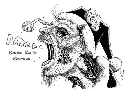 Christmas Zombie Santa.Zombie Santa By Cosmo9 Nature Cartoon Toonpool