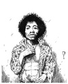 Cartoon: Jimi Hendrix (small) by cosmo9 tagged jimi,hendrix