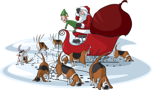 Image result for christmas dogs sniffing