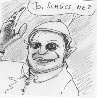 Cartoon: Schüss (medium) by timfuzius tagged pope,papst,kirche