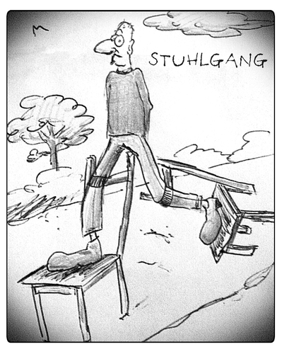 Cartoon: Stuhlgang (medium) by timfuzius tagged stuhlgang,wc,toilette,spazieren,stuhl